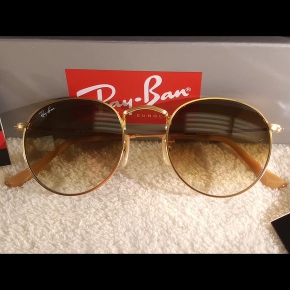 ray ban 3447 rose gold